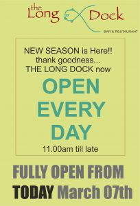 Fully open from March 7