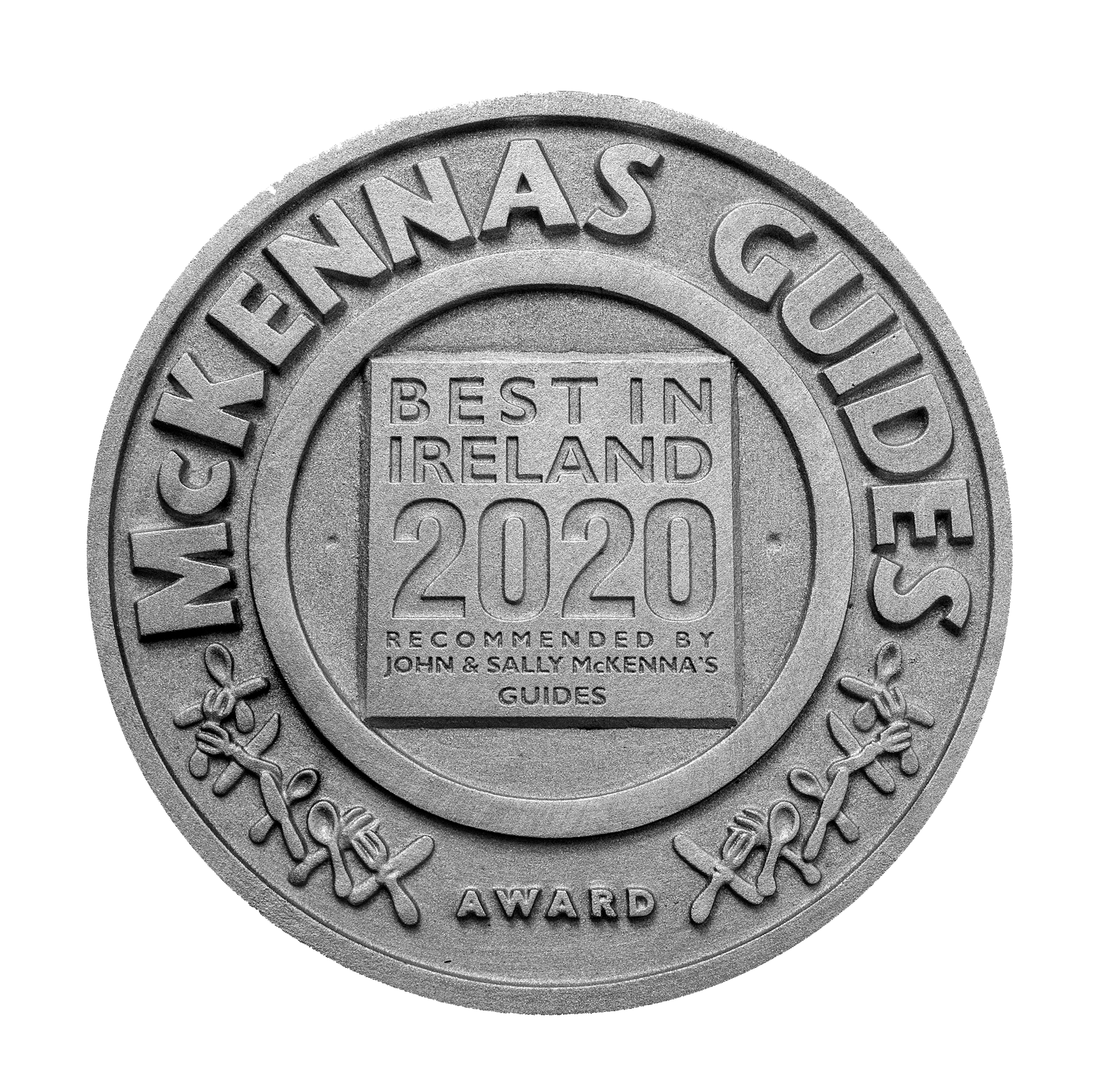 McKennas Guide plaque